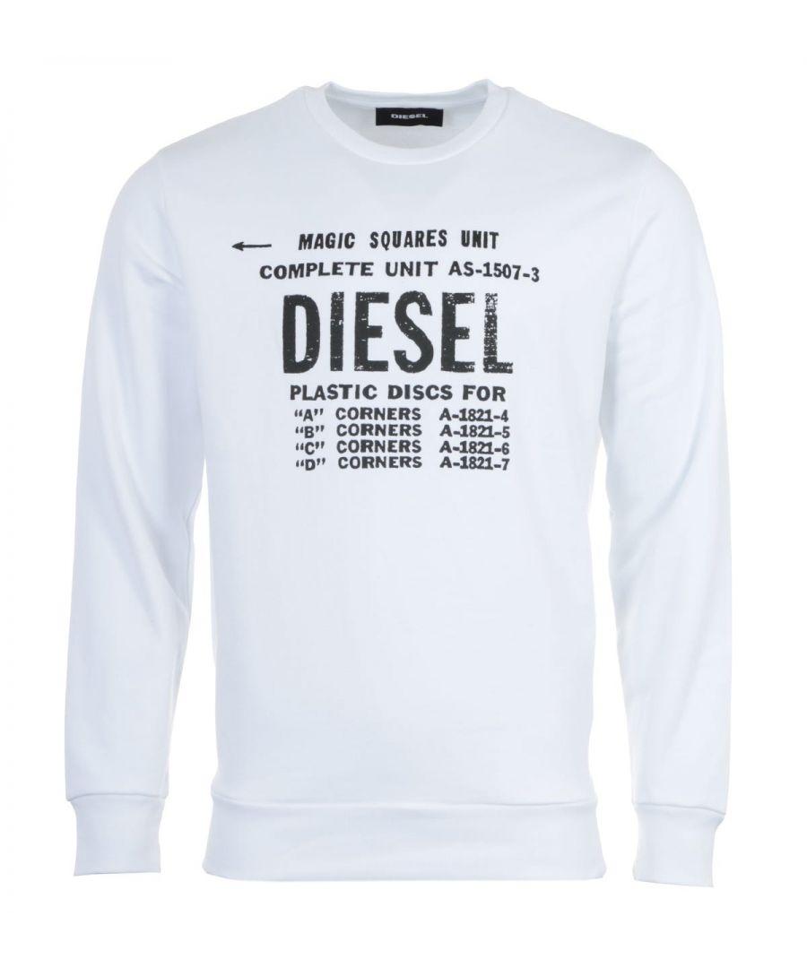 Image for Diesel S-Gir B5 Sweatshirt - White
