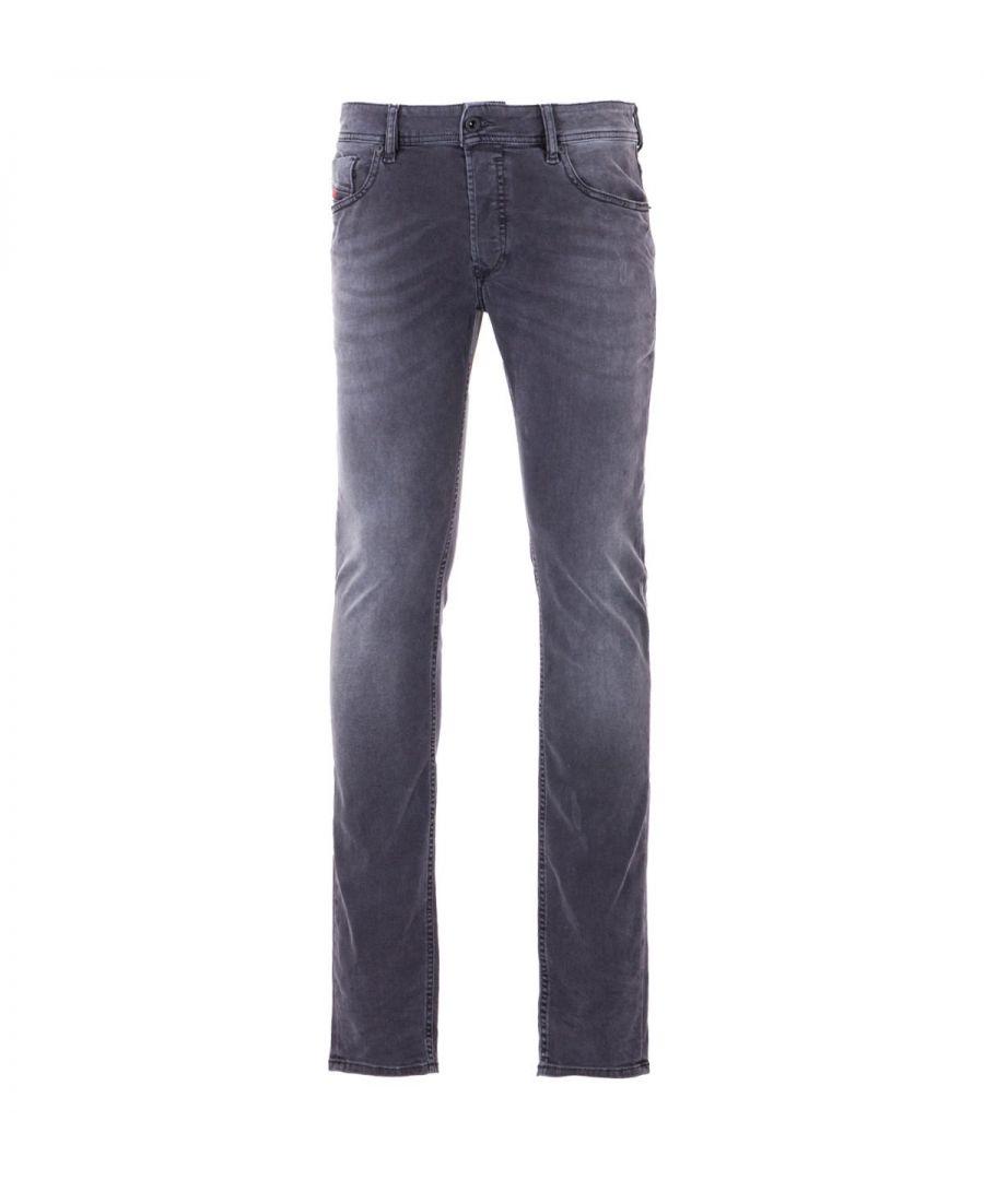 Image for Diesel Sleenker Skinny Fit Jeans - Vintage Faded Grey