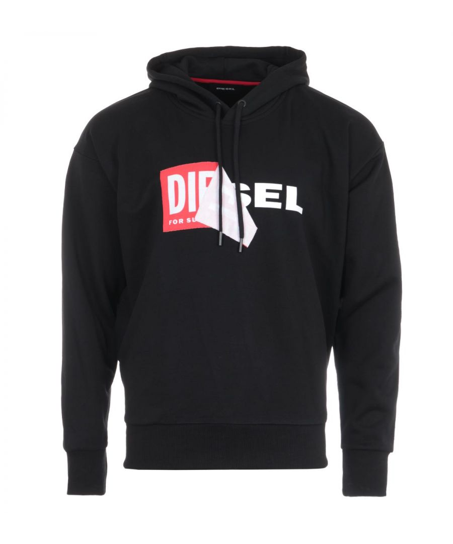 Image for Diesel S-Alby Double Logo Hooded Sweatshirt - Black
