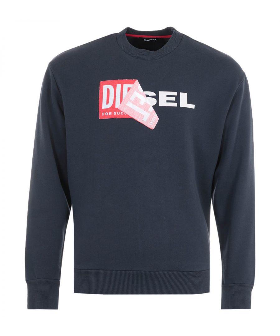 Image for Diesel S-Samy Double Logo Sweatshirt - Navy