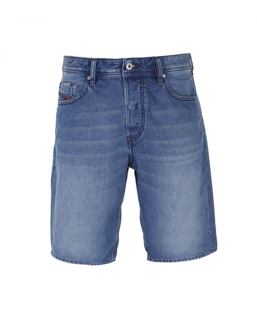 Image for Diesel Keeshort Calzoncini Blue Wash Denim Shorts