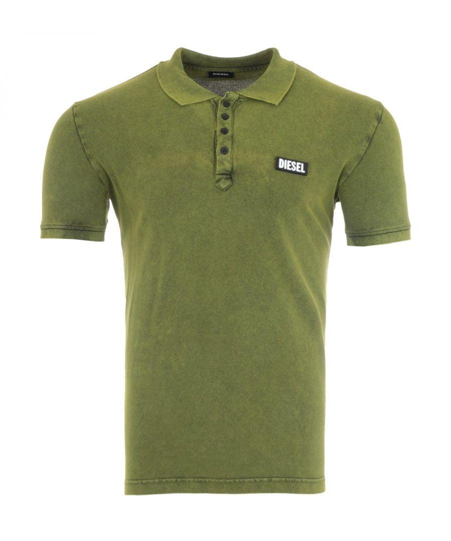 Image for Diesel T-Randy Velcro Logo Polo Shirt - Green