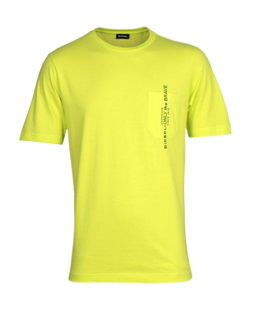 Image for Diesel T-Just Pocket Sacramento Yellow T-Shirt