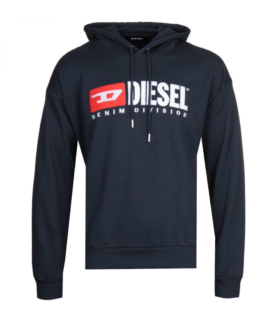 Image for Diesel S-Division Felpa Navy Hooded Sweatshirt