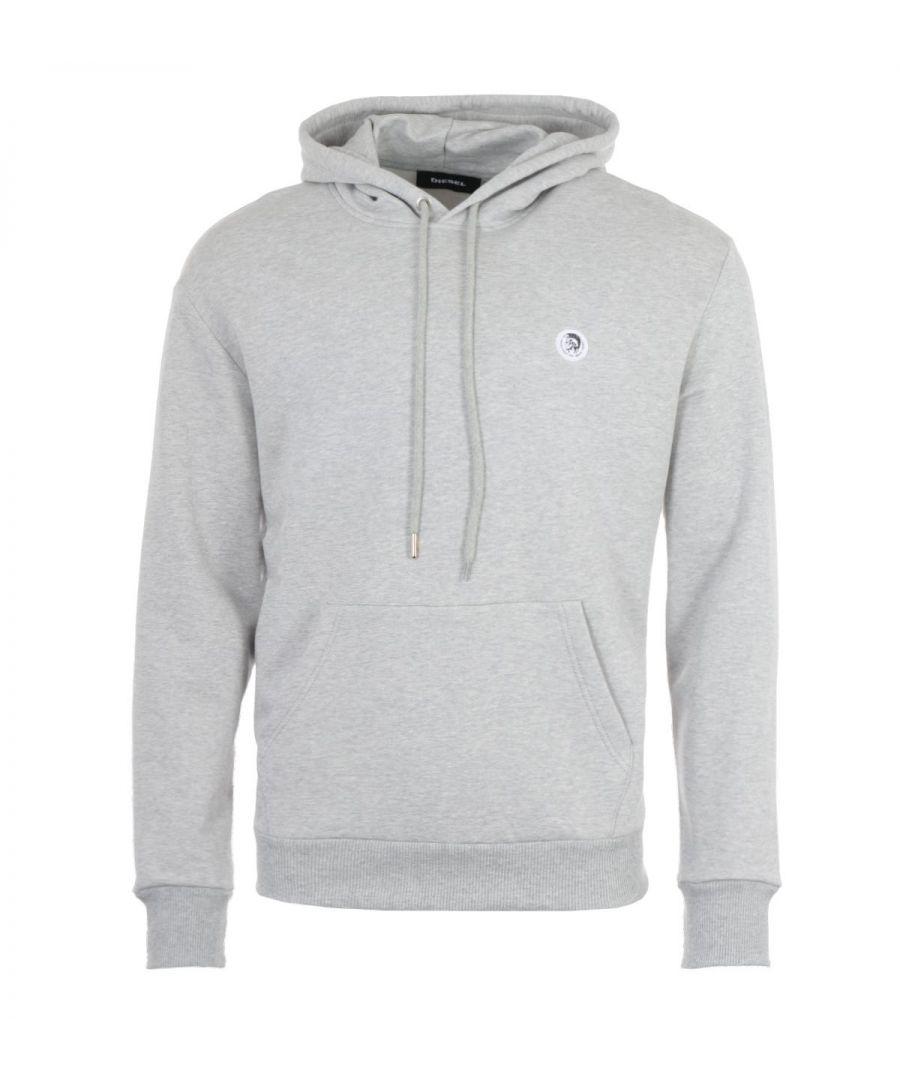 Image for Diesel S-After Mohawk Logo Hooded Sweatshirt - Grey