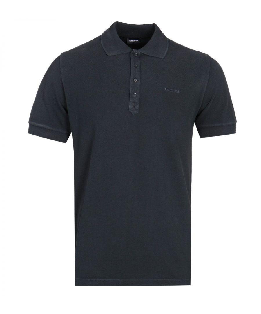 Image for Diesel T-Night Broken Black Polo Shirt