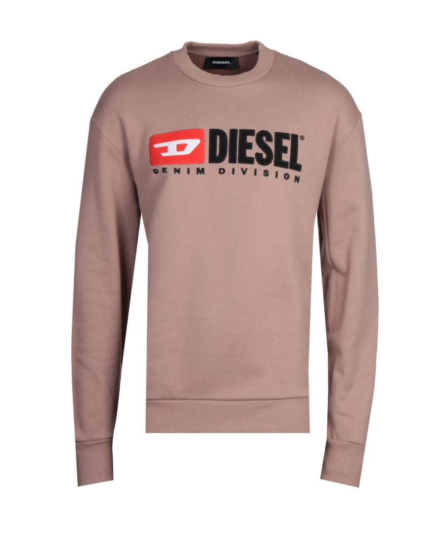 Image for Diesel S-Crew-Division Felpa Brown Sweatshirt