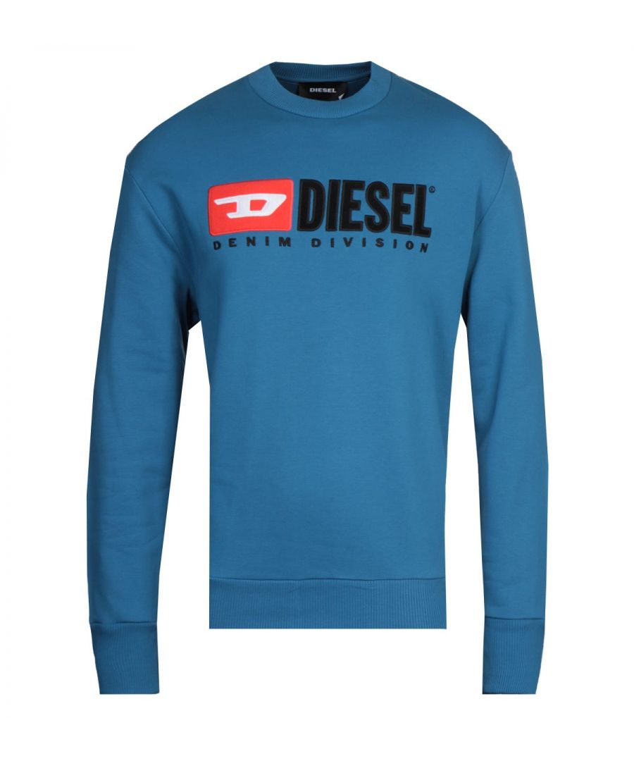Image for Diesel S-Crew-Division Felpa Blue Sweatshirt