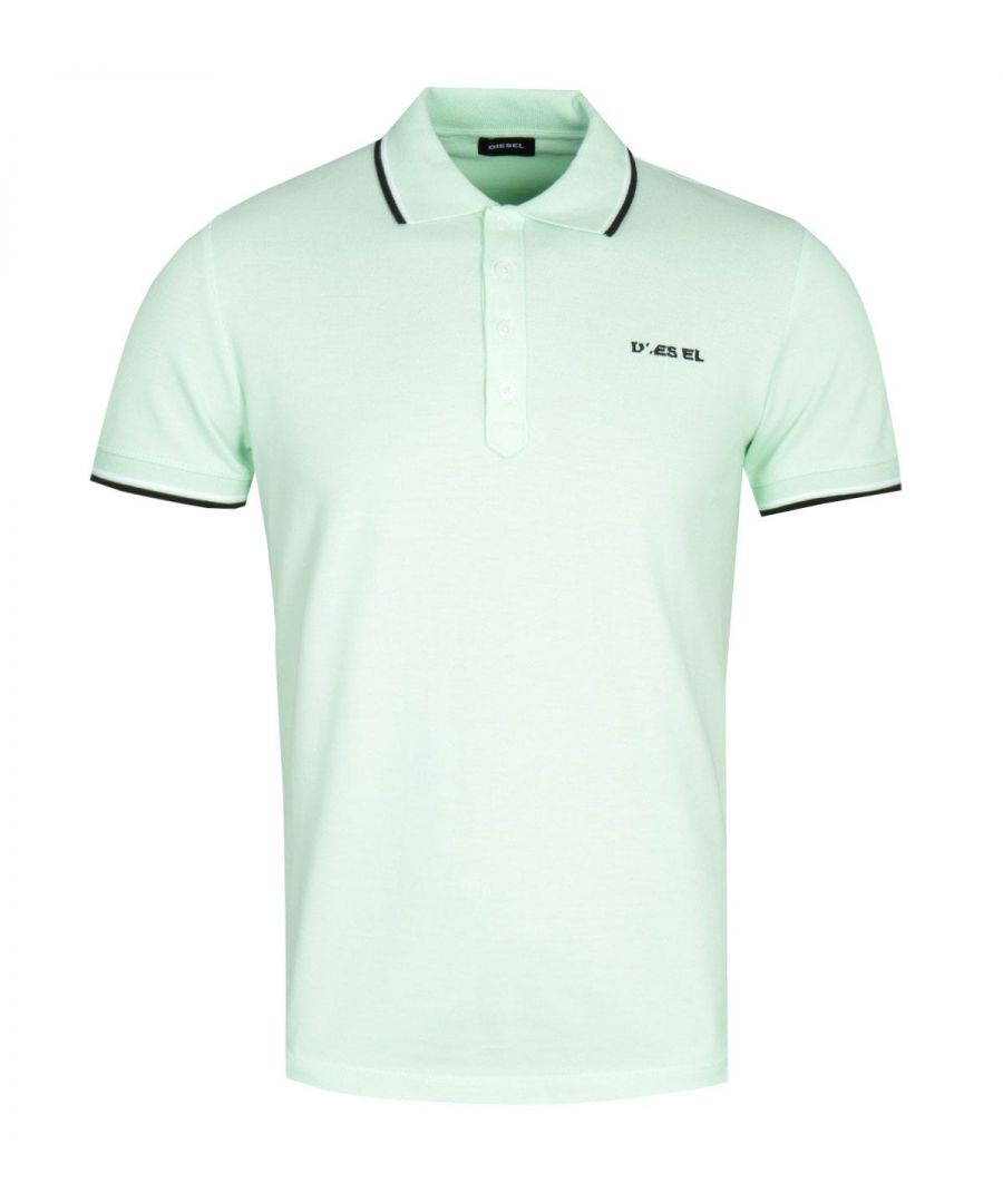 Image for Diesel T-Randy Broken Logo Lime Green Polo Shirt