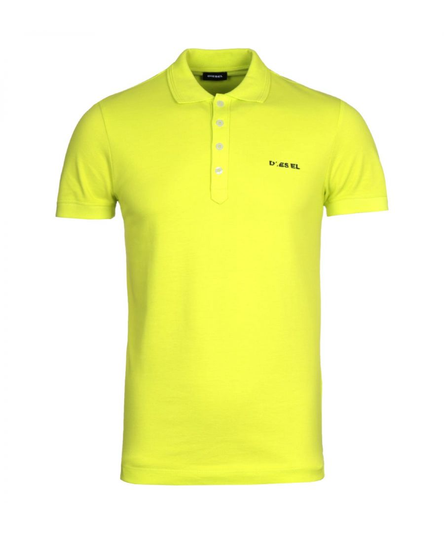 Image for Diesel T-Heal Broken Logo Yellow Polo Shirt