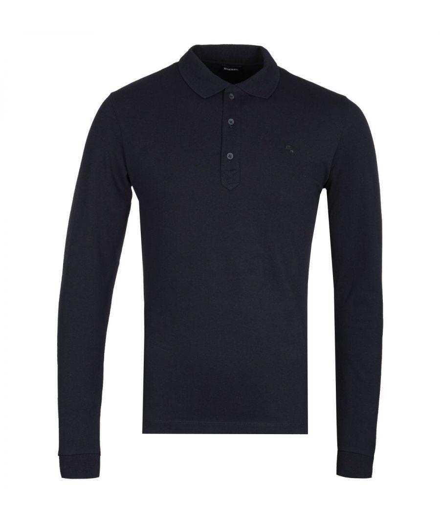 Image for Diesel T-Kalar Long Sleeve Navy Polo Shirt