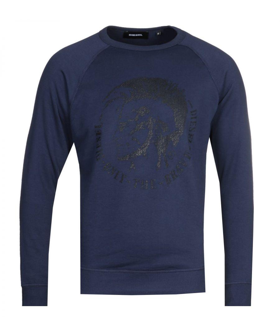 Image for Diesel S-Orestes Navy Logo Sweatshirt