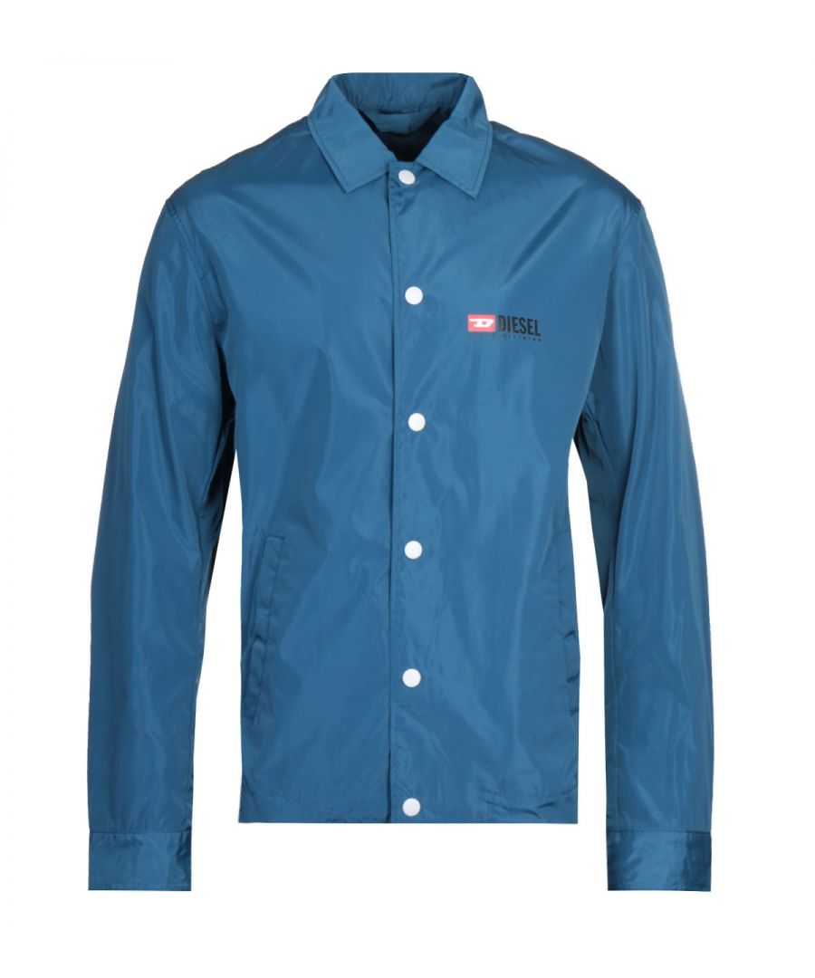 Image for Diesel Denim Division Blue Coach Jacket