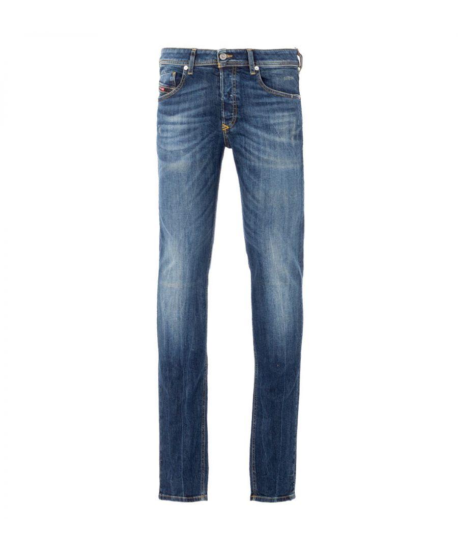 Image for Diesel Sleenker Skinny Fit Jeans - Vintage Mid Blue