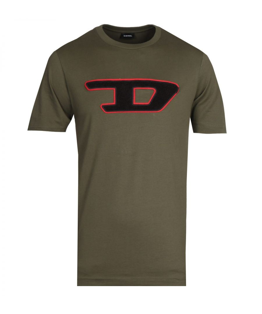 Image for Diesel Large Logo Green T-Shirt