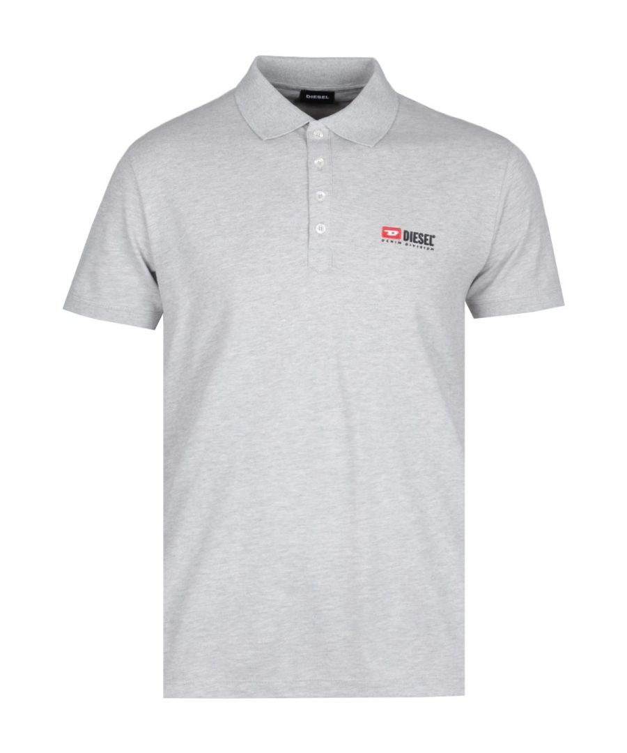 Image for Diesel Denim Division Grey Marl Polo Shirt