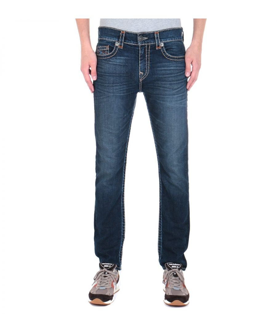 Image for True Religion Rocco Slim Fit Super T Dark Blue Wash Jeans