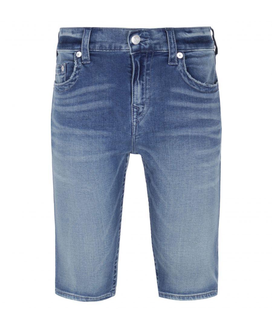 Image for True Religion Bassline Rocco Blue Wash Denim Shorts