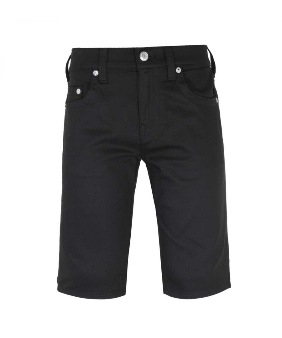 Image for True Religion Rocco Relaxed Skinny UK Black Shorts