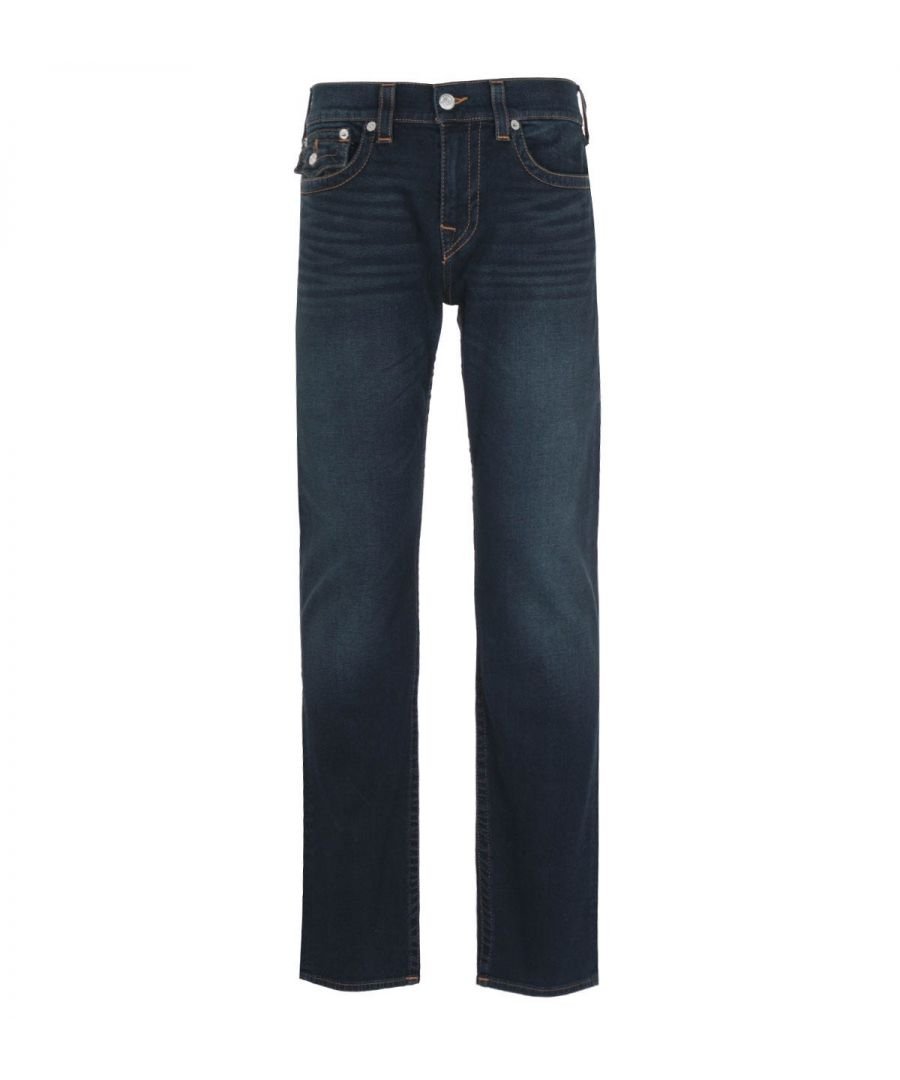 Image for True Religion Ricky Flap Straight Fit Indigo Denim Jeans