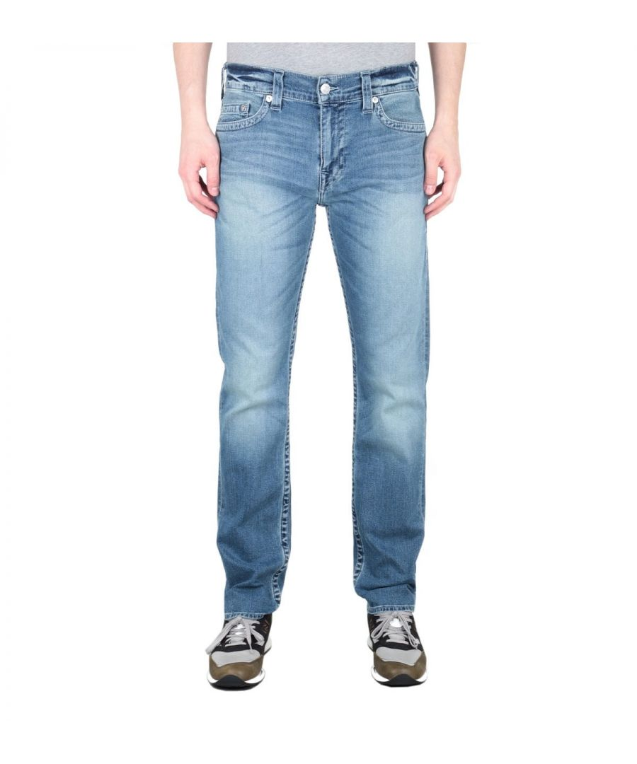 Image for True Religion Geno Slim Fit Blue Jeans