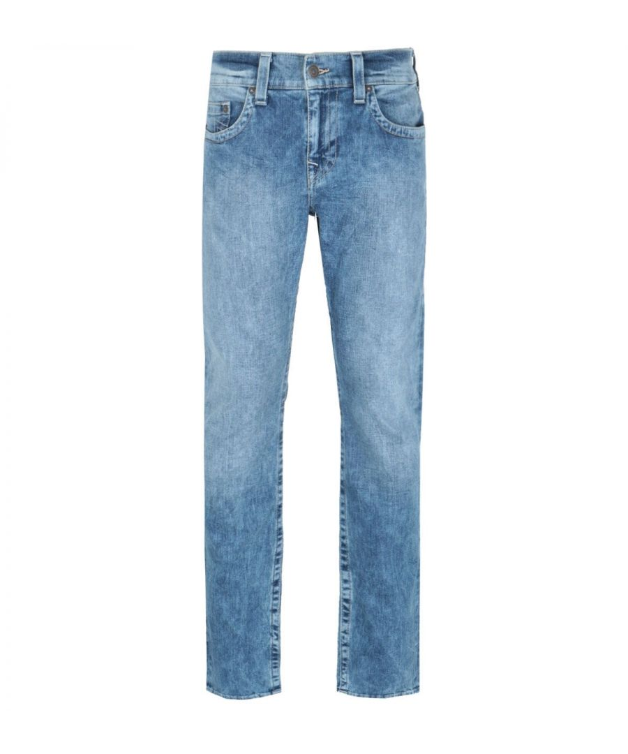 Image for True Religion Rocky Straight Fit Blue Denim Jeans