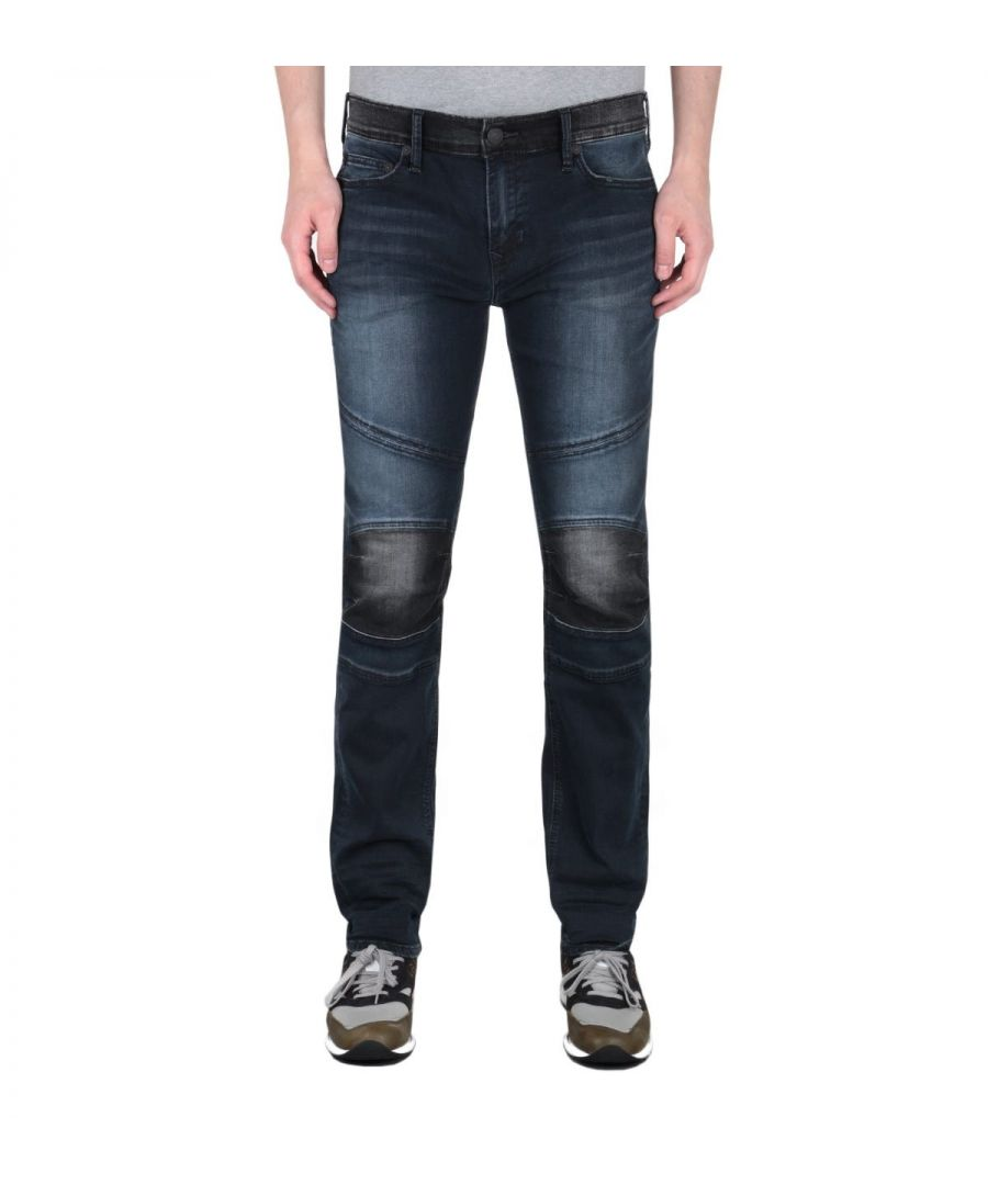 Image for True Religion Rocco Moto Dark Blue Slim Fit Jeans