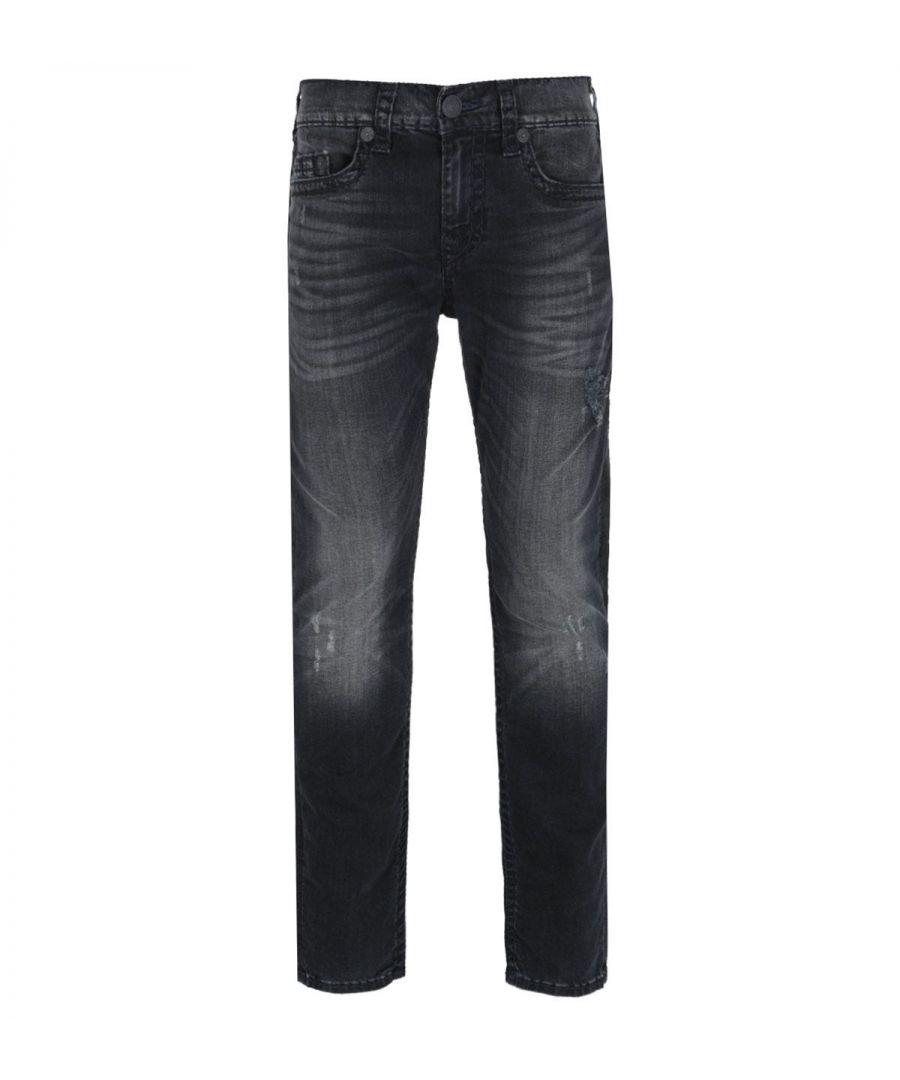 Image for True Religion Rocco Skinny Fit Super T Black Rinse Denim Jeans