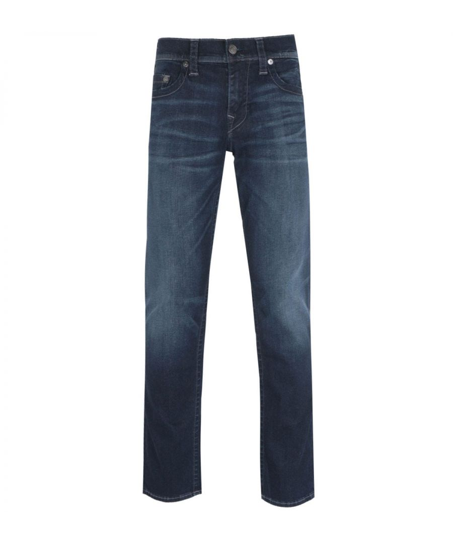 Image for True Religion Geno Slim Fit Deep Blue Denim Jeans