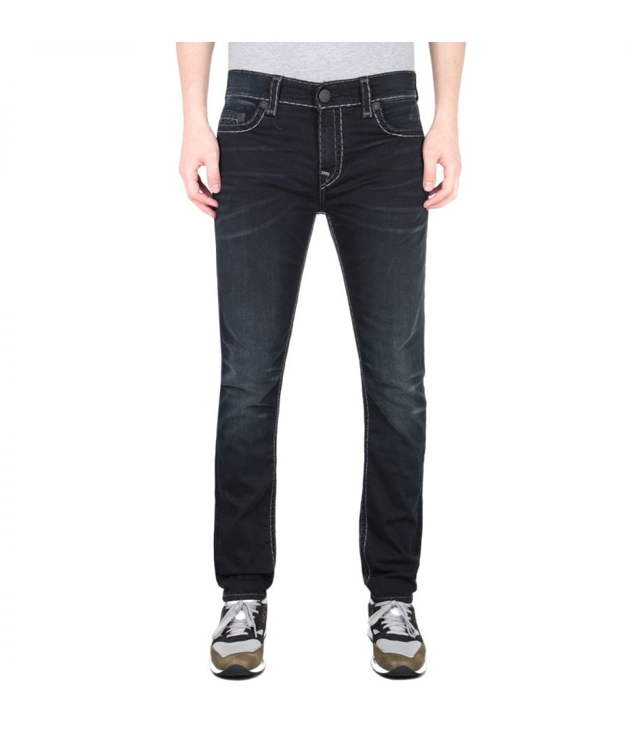 Image for True Religion Rocco Super T Black Slim Fit Jeans
