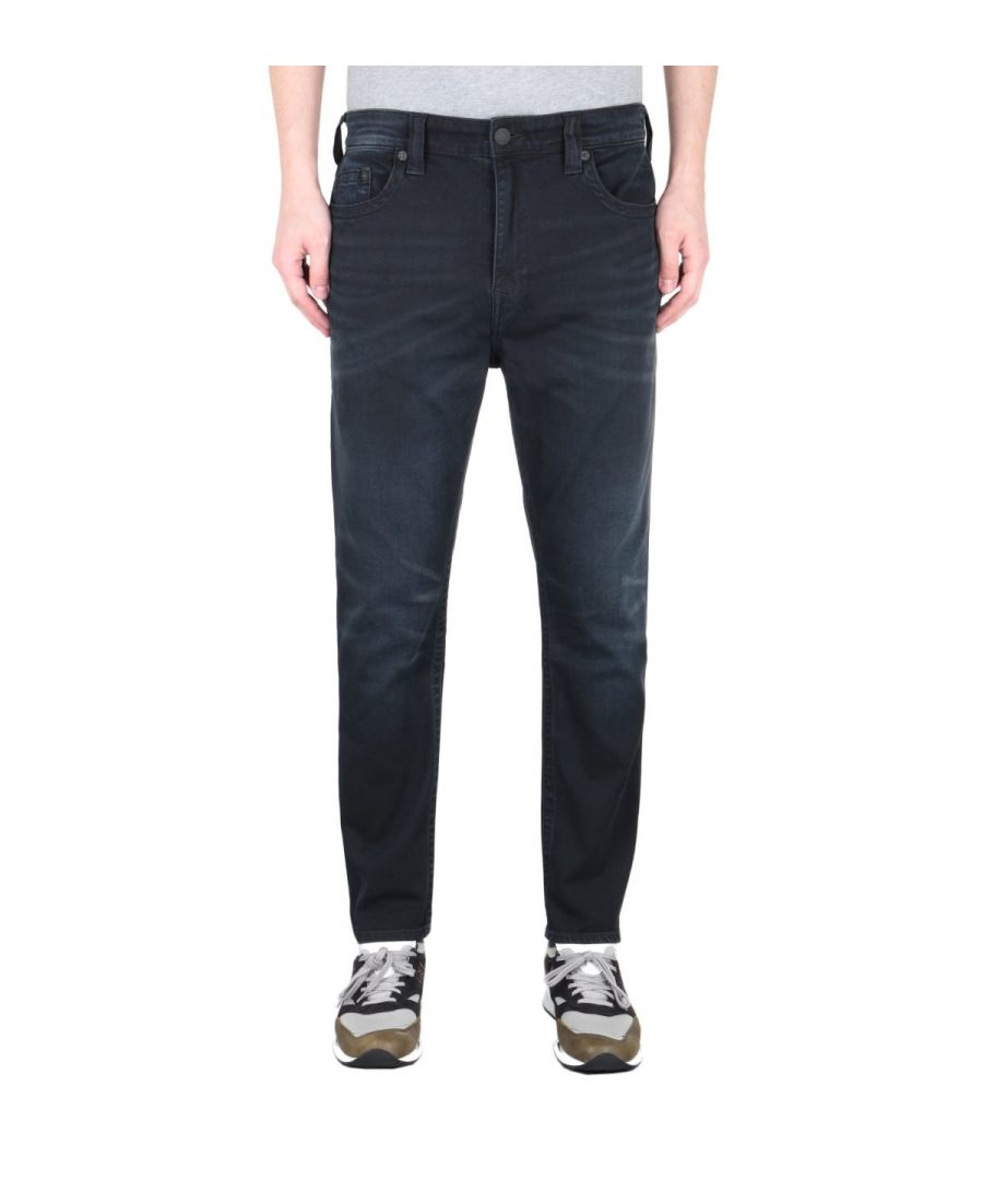 Image for True Religion Logan Tapered Fit Black Jeans