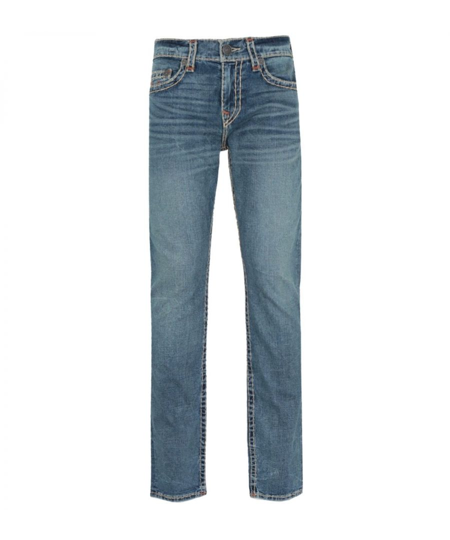 Image for True Religion Geno Slim Fit Dark Champion Blue Denim Jeans