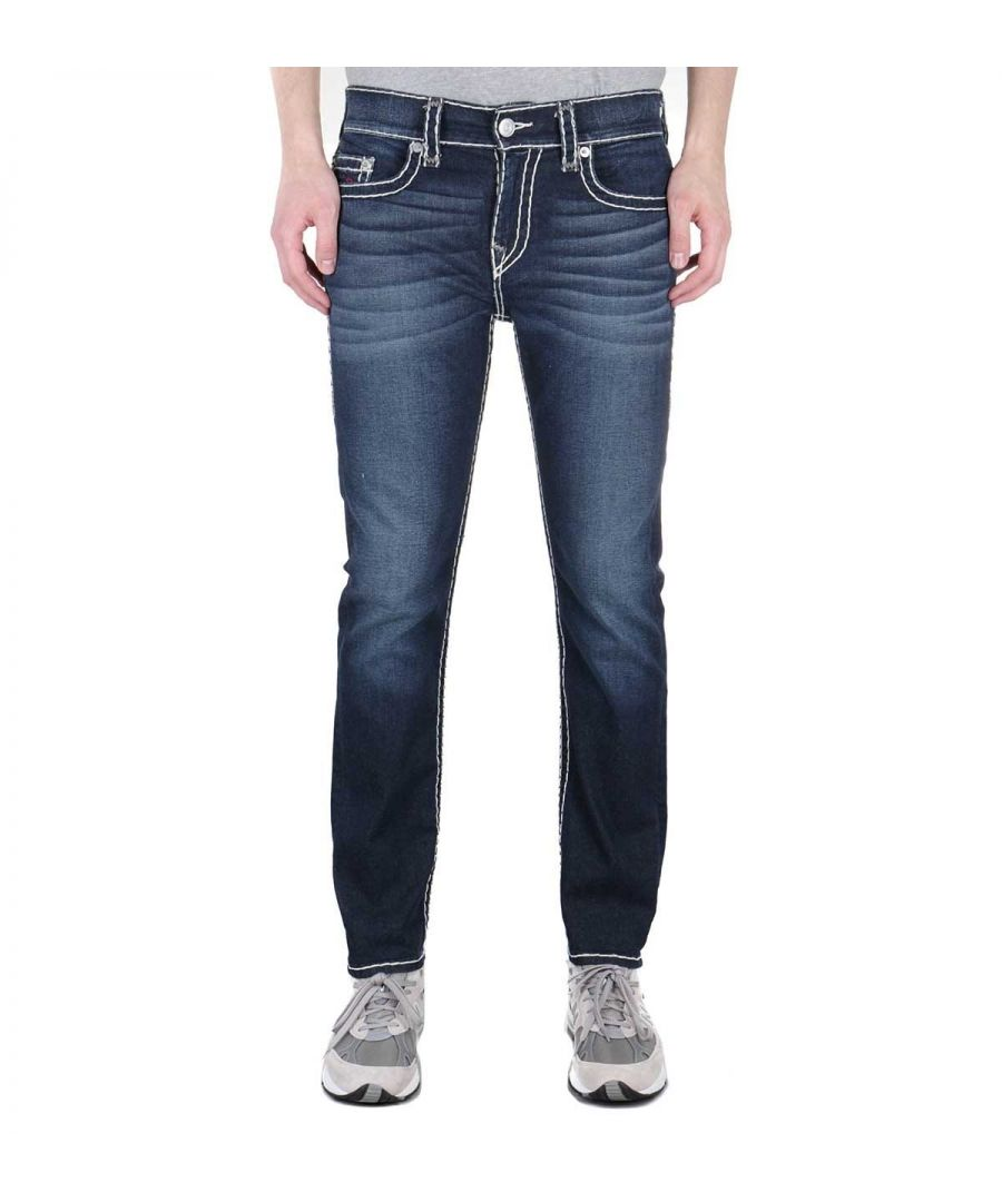 Image for True Religion Rocco Relaxed Skinny Super T Murky Tide Indigo Wash Denim Jeans