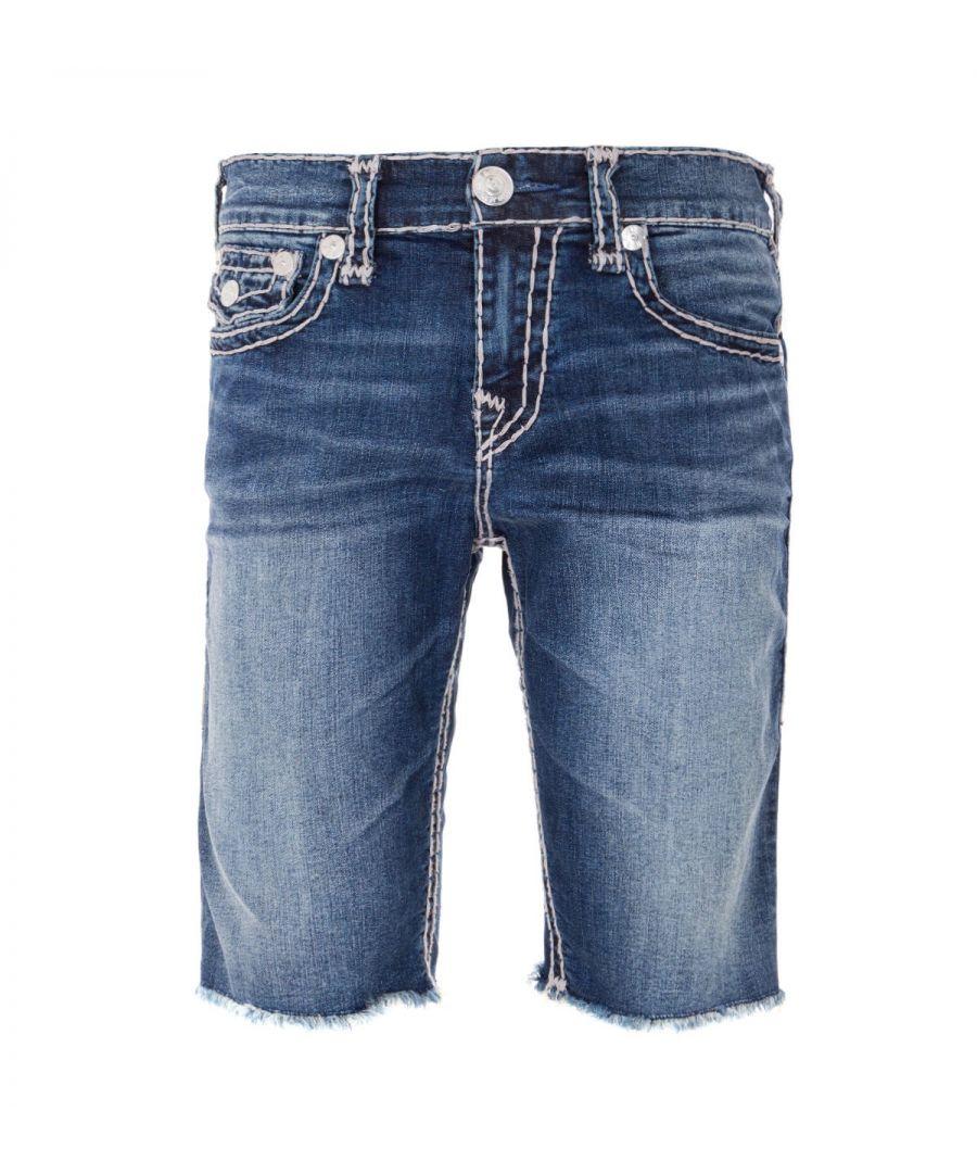 Image for True Religion Ricky Flap Super T Denim Shorts - Dark Genuine