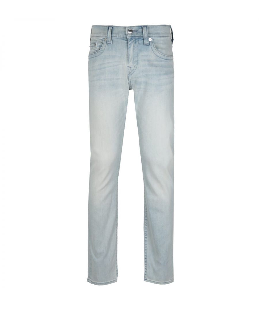 Image for True Religion Ricky Relaxed Straight Fit No Flap Silicone Blue Denim Jeans