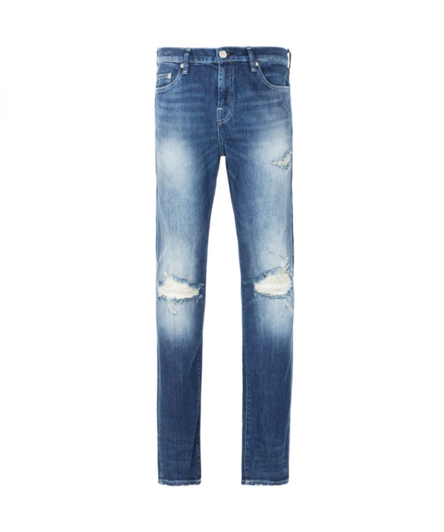 Image for True Religion New Skinny Jeans - Medium Blue Worn