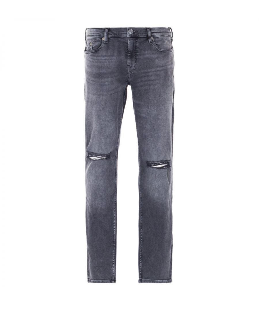Image for True Religion Geno Slim Fit Jeans - Black Worn