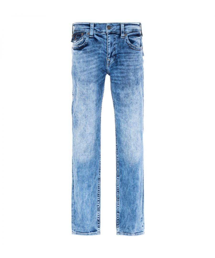 Image for True Religion Ricky Relaxed Straight Fit Jeans - Light Blue