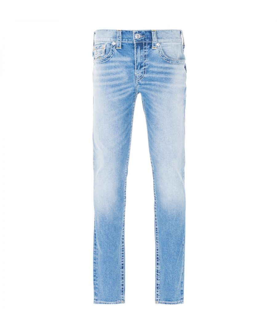 Image for True Religion Rocco Big T Skinny Jeans - Light Blue