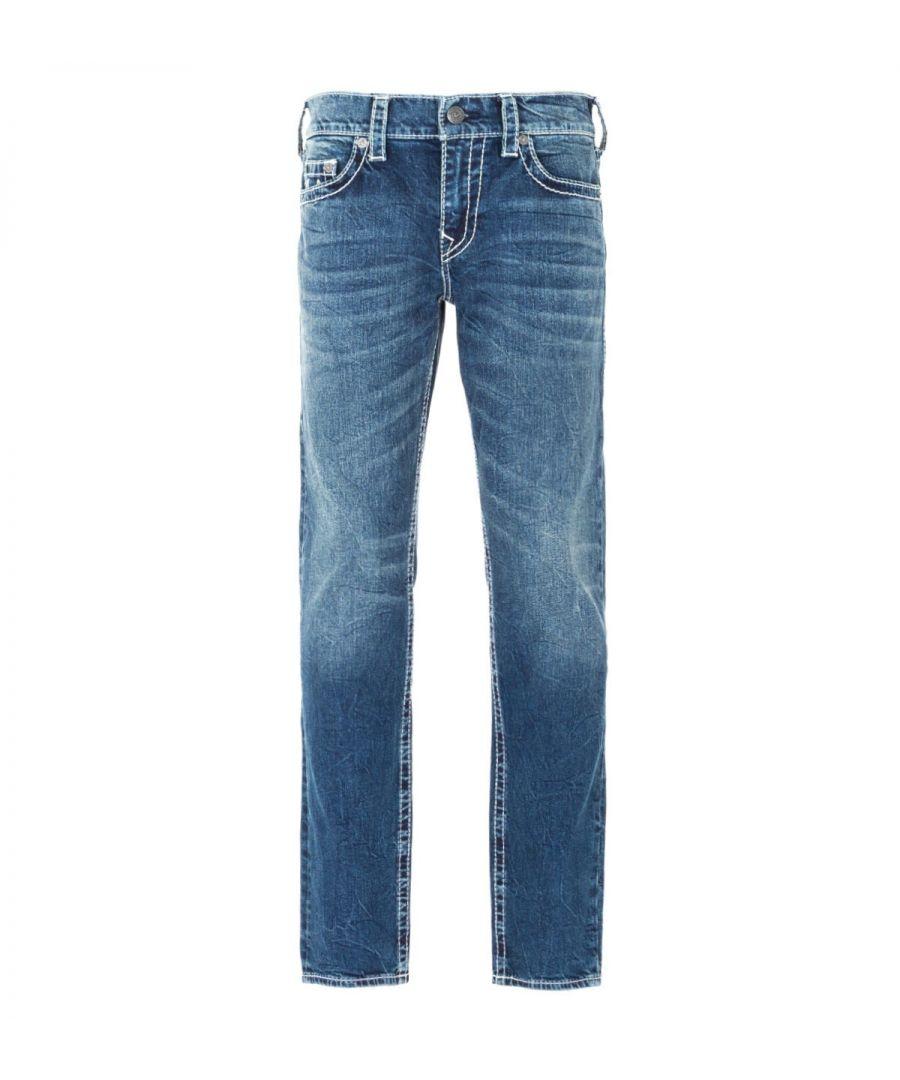 Image for True Religion Geno Big T Slim Fit Jeans - Dark Blue