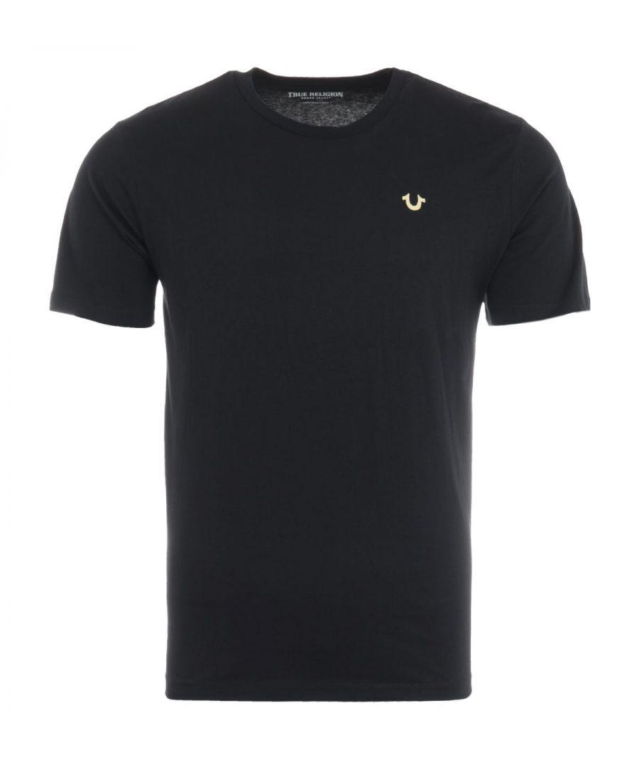 Image for True Religion TR Logo T-Shirt - Black