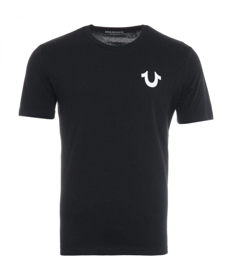 Image for True Religion Letter Logo T-Shirt - Black