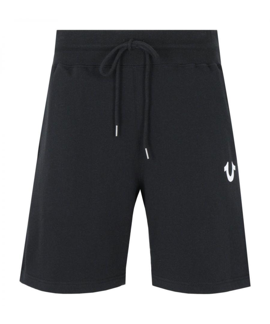 Image for True Religion Logo Sweat Shorts - Black