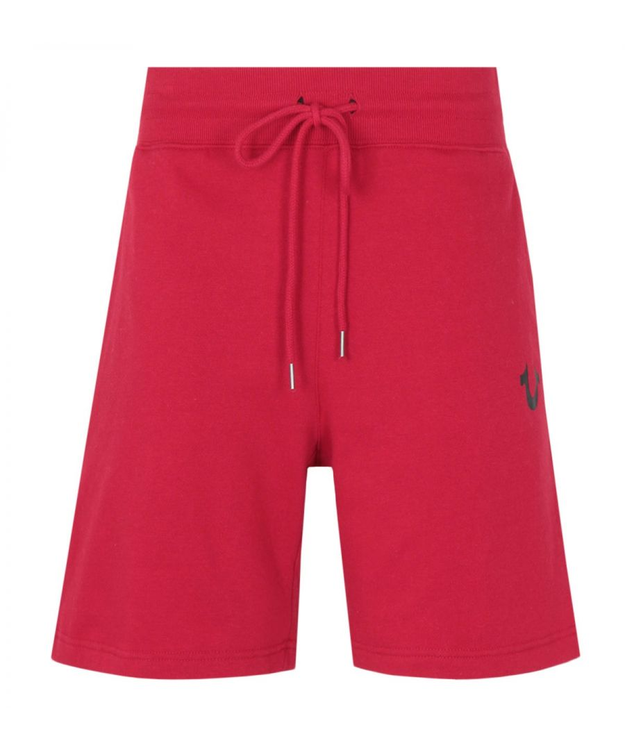Image for True Religion Logo Sweat Shorts - Ruby Red