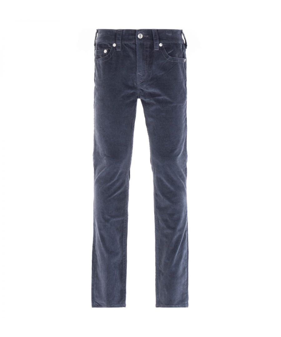 Image for True Religion Rocco Relaxed Skinny Grey Corduroy Trousers
