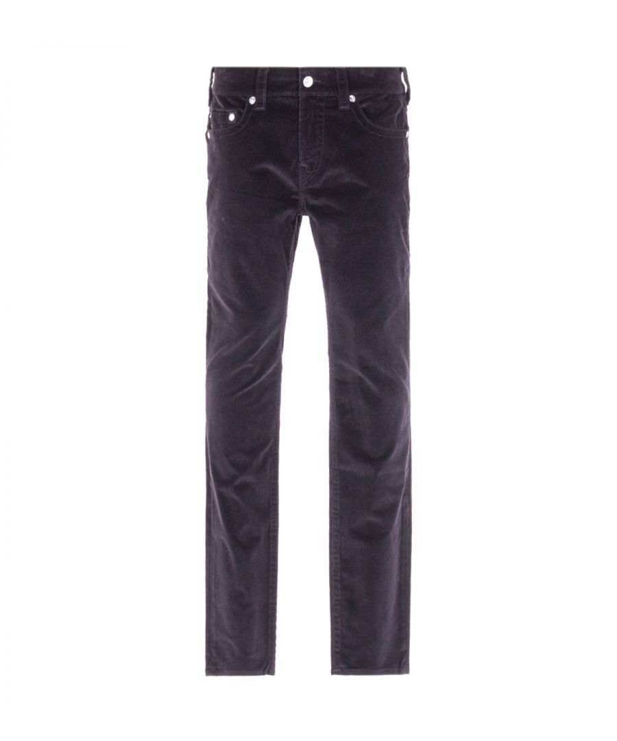 Image for True Religion Rocco Relaxed Skinny Black Corduroy Trousers