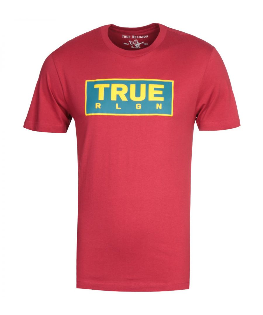 Image for True Religion Heavyweight Red T-Shirt