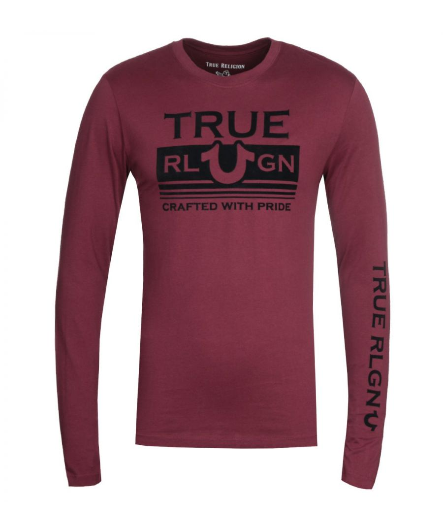 Image for True Religion Long Sleeve Still Mill Burgundy T-Shirt