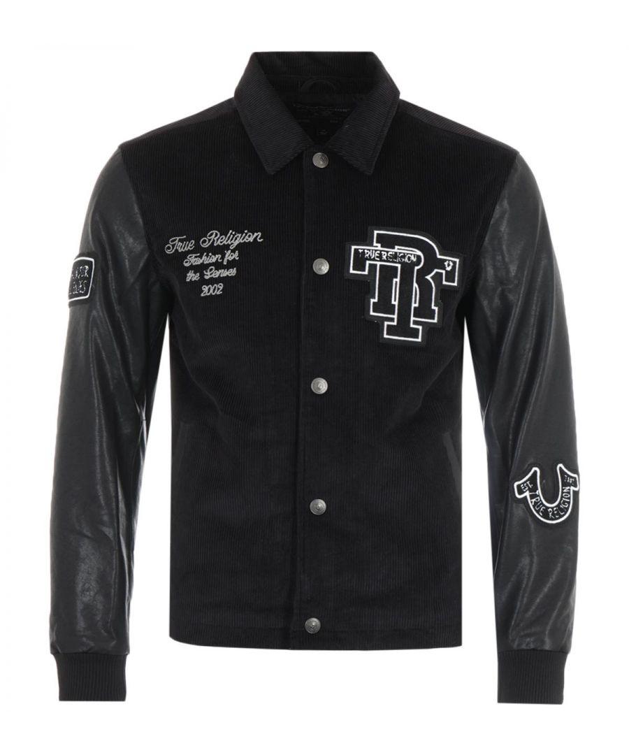 Image for True Religion Western Varsity Jacket - Black