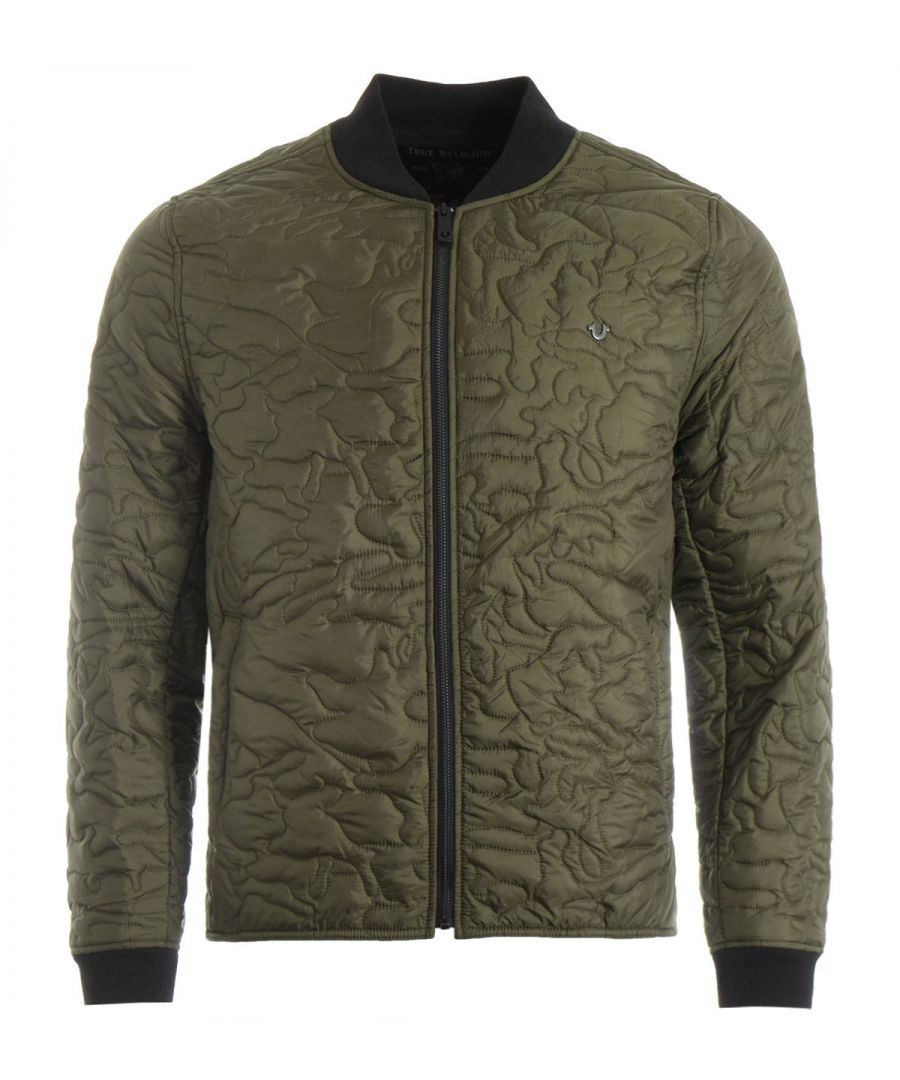 Image for True Religion Camo Quilted Liner Jacket - Olive
